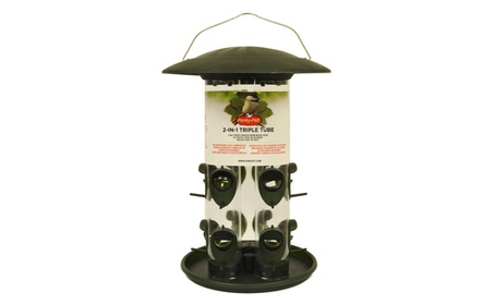 Woodstream 369 Wildbird Triple Tube Feeder - Green (Goods For The Home Patio & Garden Bird Feeders & Food) photo