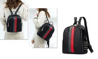 Backpack Purse Girls Day Pack Leather Women Fashion Backpack Bag (STYLE SOLID) photo
