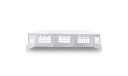 10'x30' White Outdoor Gazebo Canopy Wedding Party Tent 5 Removable Walls Was: $199.99 Now: $99.99.