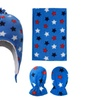 Baby Multi-Patterned Sherpa Lined Beanie, Scarf & Gloves Set