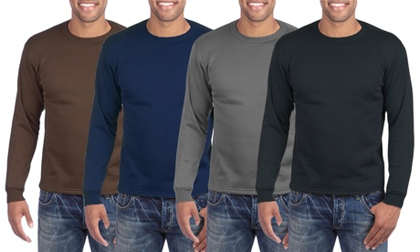 (3-Pack) Men's Long Sleeve Thermal Tops with Fleece Lining 8abb395d-f2ac-4eb5-be8a-c0aaabd5dc73