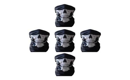 5 Pack Skull Mask Motorcycle Bicycle Half Face Tube Skeleton Mask c1fff139-16fc-480d-9a34-13b5696d8537