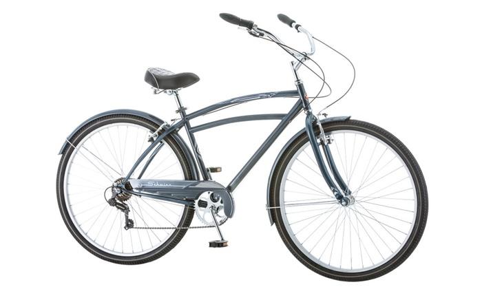 Schwinn 29 inches Men's Costin 7 Speed Cruiser Bike Bicycle - Grey