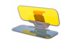 Zone Tech HD Anti-Glare Sun Visor Day Night Vision Shield Driving View