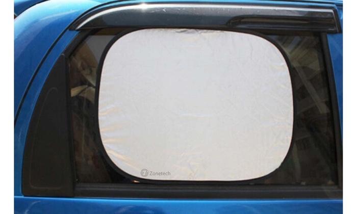 2-Piece Premium Quality Car Side Window Sunshade Zone Tech Foldable Side Window Sun Shades