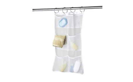 Shower Bath Hanging Mesh Organizer Caddy Storage 6 Pocket Bathroom Tub