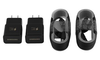 Samsung Fast Adaptive Charger 2Pack with 2 Micro OR Type C Cables