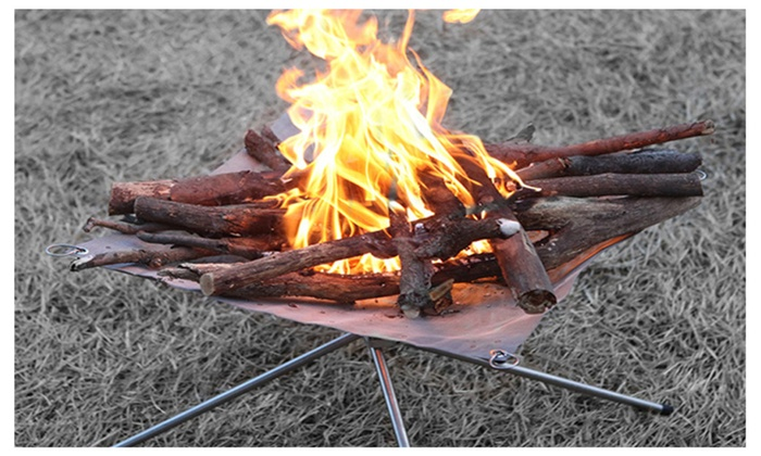 Portable Fire Pit For Camping Collapsing Steel Mesh Fireplace Garden