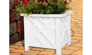 Pure Garden Lattice Box Planter