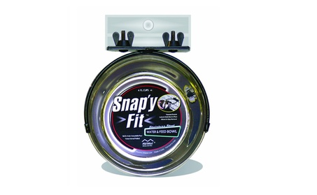 MidWest Stainless Steel Snap'y Fit Water and Feed Bowl cd293eae-6fc6-4c33-8e0d-e0f34a116229