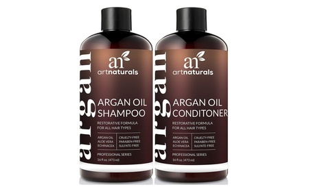 ArtNaturals Organic Moroccan Argan Oil Shampoo and Conditioner 473ml 44f64de3-9164-4167-8665-9b3f0121c787