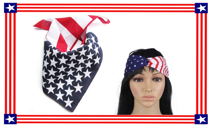 USA Flag Hair Band Perfect Headwrap For Ladies