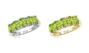Jewelonfire 2.40 CT Peridot Ring in SS 12432