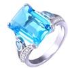 Emerald-Cut Aquarmarine Crystal Ring By Barzel