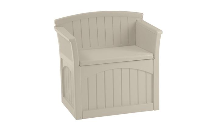 Suncast Patio Storage Seats 31 Or 50 Gallon Groupon
