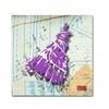 Roderick Stevens Shoulder Dress Purple n White Canvas Print