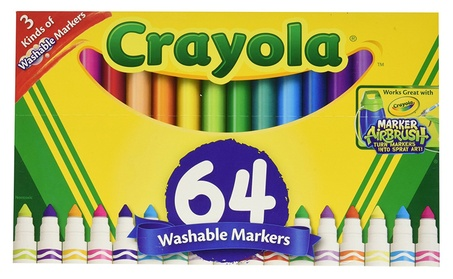 Crayola Washable Markers, 64 ct. Variety Pack, Art Tools 052a5b7e-6db8-42ae-aa85-28dcfed23558