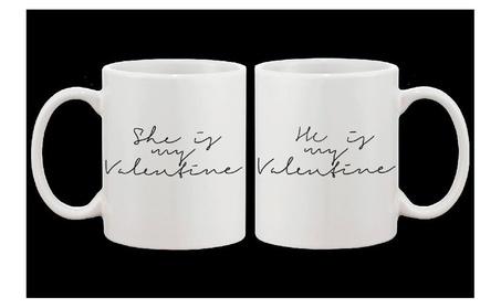 My Valentine Calligraphy Style Matching Mug- Couple Matching Cup 22f96063-0399-419f-9198-0b4d235b821c