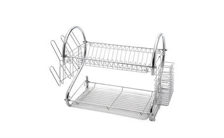 Kitchen Dish Cup Drying Rack Holder Sink Drainer 2 Tier Dryer f19c094b-b3df-4c40-8825-7ea4e4889a82