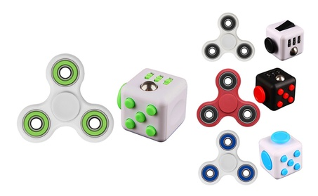 Fidget Cube + Hand Spinner Anxiety Stress Relief Focus Toys Games de137320-a8ed-4bf1-b3c1-c01277f05a98