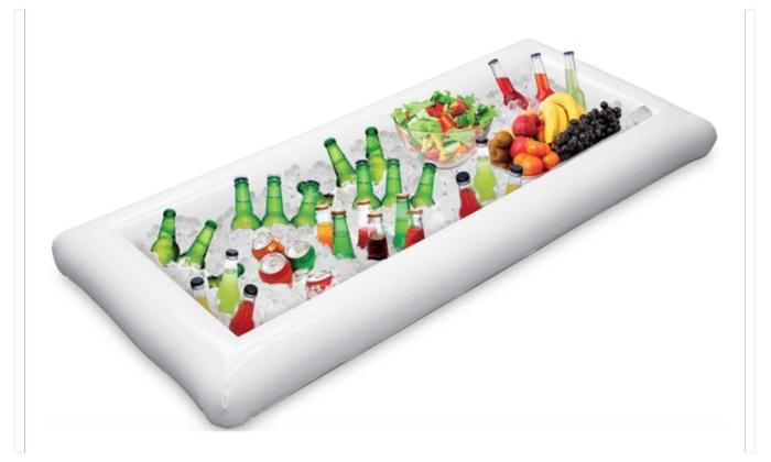 Inflatable Serving Bar Salad Buffet Ice Cooler Picnic Drink Table - Inflatable picnic table