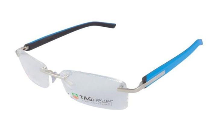 Tag Heuer Brushed Light Rimless Eyeglasses | Groupon