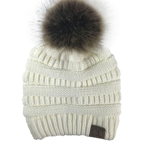 42718de368e177 Up To 77% Off on CC Women Knitted Hat Winter W... | Groupon Goods