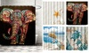 Waterproof Bathroom Shower Curtain Beach 71*71 inch Set Hook (12 Piece)