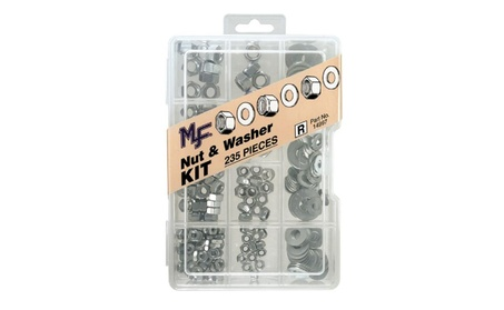 Midwest Fastener Corp Dc 235 Piece Nut & Washer Assortment Kit 14997 photo