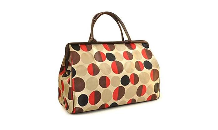 Women Dot Stripe Tote Handbag Shoulder Bag Oversized Messenger Satchel