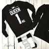 Unisex King Queen No.1 Crown Premium Hoodie - Custom Oversized HD Graphics
