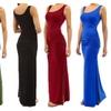 Oshlen Solid Slim Fit Split Maxi Dress