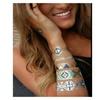 Flash Metallic Tattoo 3D Temporary Tattoo 2 Sets Sticker