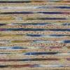 LR Home Topanga Natural Braided Striped Blue Multi Rectangle Indoor Area Rug