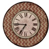Red Chevron Antique Wall Clock