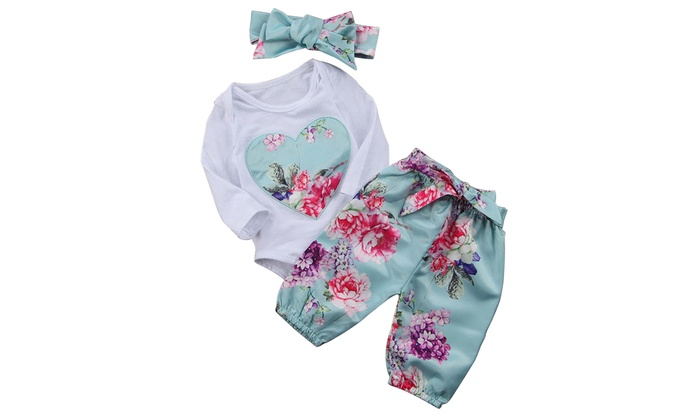 f323d6203 Up To 83% Off on Newborn Baby Girls Tops Rompe...