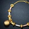18K Tri-Gold Charm Bracelet By Sevil