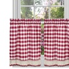 "Buffalo Check Kitchen Curtain Tier Pair  - 36"" x 58"""