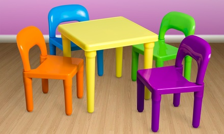 Kids Table and Chairs Play Set Activity Furniture