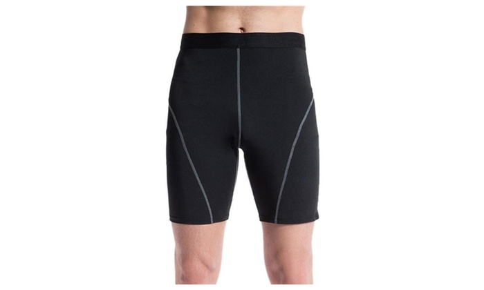 Men's Skin Tights Compression Base Layer Black Running Short Pants