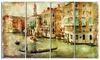 Vintage Venice - Digital Art Landscape Metal Wall Art