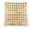 Black Scrabble Letters & Numbers For Crafts Wood
