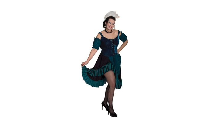 Sunnywood Women's Plus Size Lava Diva Saloon Girl Costume Turquoise
