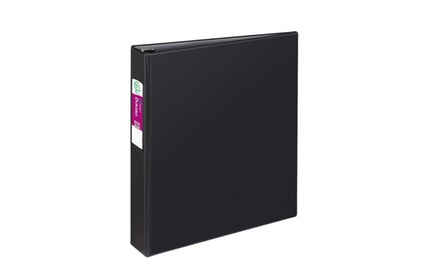 Avery Durable Binder with 1.5-Inch Slant Ring, Holds 8.5 x 11-Inch Paper, Black, 1 Binder (27356)