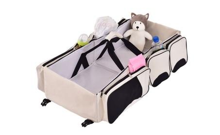 Portable Crib Changing Station 3 in 1 Diaper Bag Baby Infant Bassinet c3ac8719-839e-4dda-99d7-e9baff923baf