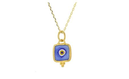Evil eye pendant, 24kt gold layered evil eye pendant a197c1cf-5fd7-4437-8c6e-c8f40207fe13
