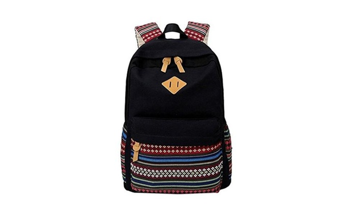 Kegoo Girls Canvas Lightweight Backpack High School College Back Pack