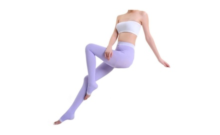 Open Toe Slimming Waist Short Compression Leggings Socks
