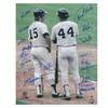1977 New York Yankees Signed 16x20 - Reggie Jackson & Thurmon Munson