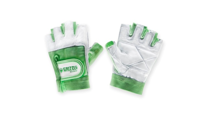 Womens Green Grizzly Paw Gloves - XS